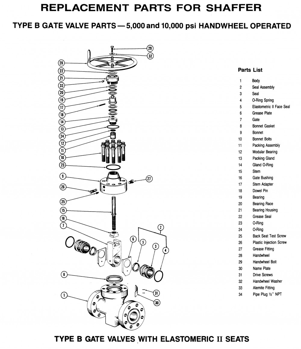 Replacement parts data sheets pressure control systems shaffer gate valves replacement parts 1 pooptronica Images